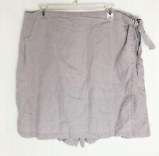 J. Jill Wild Thistle Shorts Skirt Purple Lavender Linen Earthborn Skort Sz 20 T