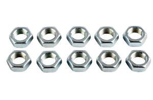 M10 x 1.5mm Half Nuts Lock Nut Right Hand Thread Metric 10mm 1.5 mm - Pack of 10