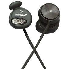 AUTHENTIC BRAND NEW Marshall Minor Earphones Pitch Black W/ MIC 3.5mm