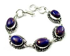 Awesome! Top Class Purple Copper Turquoise Gemstone Silver Plated Bracelet