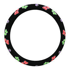KM World Black 14.5-15 Inch Cute Butterfly Steering Wheel Cover for Accord