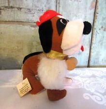 Vintage St Louis Carnival Supply MO Plush Carnival toy Saint Bernard dog w tag