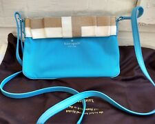 Kate Spade Blue Crossbody / Clutch With Bow
