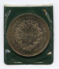50 Franchi in argento 1976 Hercule France Bullion coin titolo 900 Francia