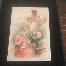 Antique Clark's ONT Thread Victorian Trading Card Newark NJ