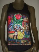 Juniors Sm Beauty And The Beast Stained Glass Princess Belle Racer Back Tank Top