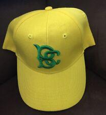 Brooklyn Cyclones Mets Hat Cotton Ball Cap Adjustable Yellow / Green Velcro Back