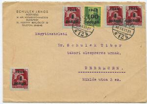 Ungarn Brief Budapest Debrecen 1945