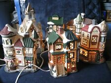 Mercuries 1994 ~ Christmas Village Houses And Figurines Lights