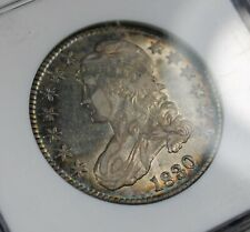1830 SMALL 0 CAPPED BUST SILVER HALF DOLLAR NGC AU 53 COLLECTOR COIN