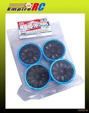 Tamiya 84252 RC Medium-Narrow Mesh Wheels (Black/Blue RIM) (Offset +0)
