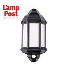 ROBUS Kerry 7w LED Half Lantern With PIR Ip44 Black 4000k - Rke00740pir-04