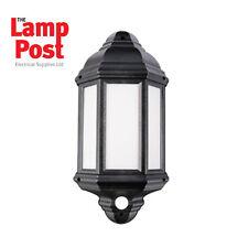 Robus KERRY 7W LED Half Lantern with PIR IP44 Black 4000K - RKE00740PIR-04