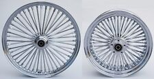 FAT SPOKE WHEELS 21 & 16 CHROME FRONT/REAR HARLEY SPORTSTER IRON 2008-2017