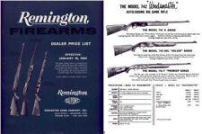 Remington 1962 Arms Price List
