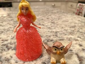 Polly Pocket Disney Princess Aurora Glitter Glider MagiClip Dress & Owl U35