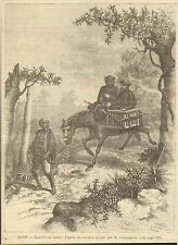 IMAGE 1888 ENGRAVING JAPON JAPAN NIPPON RETOUR DE SAIJO