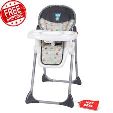 3-In-1 High Chair Adjustable Height w/ Feeding Tray, 3 Point Safety Harness New