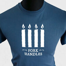 Fork Handles T Shirt Four Candles Retro Funny Two Ronnies Cool British Comedy ib