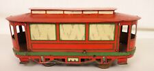 OROBR RARE GERMAN MADE TIN LITHO WIND-UP TROLLEY-STREET CAR-NICE CONDITION!