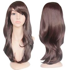EmaxDesign Wigs 28 Inch Cosplay Wig For Women With Wig Cap and Comb (Dark Brown)