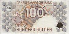 Netherlands Banknote P101 100 Gulden 1992 Brown barcode, small copyright, VF- EF