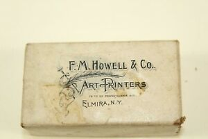 Vintage Steel Print Block includes Collectible F.M. Howell & Co Box