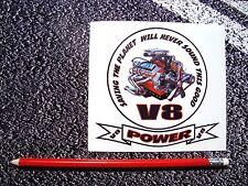 V8 Sticker FunnyV8 American Hot rod Pontiac Mustang Corvette Muscle Car