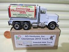 Matchbox MB56D CHRISTMAS 2015 Ad-Ventures, Inc. PETERBILT MILK Truck New Boxed