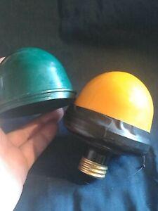 Vintage Kodak Brownie Model B Darkroom Safelight 2 Cup, Yellow & Green Lamp Kit