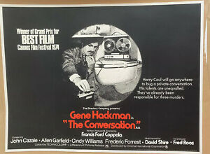 The Conversation UK Quad (1974) LINEN BACKED Original Film Poster Gene Hackman