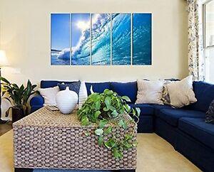Ocean Waves Sea Beach Wall Art Canvas Print for Home and Office Framed