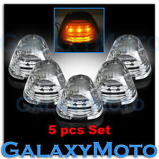5pcs Cab Roof Top AMBER LED Lights CLEAR Lens Marker Running Lamps truck RV 4X4