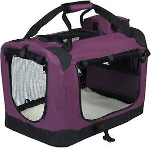 Hundebox faltbar Hundetransportbox Auto Katzen-Tasche Hundetasche S 49x35x35cm -