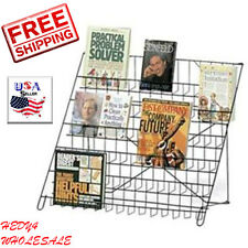 Set of 3 Black Wire Literature Display 6-Tier Countertop Rack Books DVD CD NEW