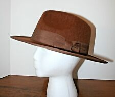 Vtg Indiana Jones Hat Brown Felt Lightweight Cowboy Hat