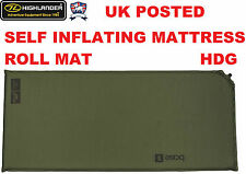 HIGHLANDER ARMY BASE S SELF INFLATING MATTRESS SLEEPING ROLL MAT BAG THERMALITE