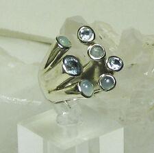Tucson Gem Show Wrap Blue Gemstone 925 Sterling Silver Ring SZ 7 NEW
