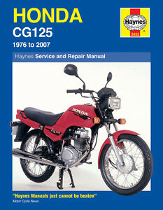 HAYNES WORKSHOP SERVICE REPAIR MANUAL HONDA CG125 1976-2007