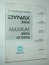 NOTICE MINOLTA 300si MAXXUM en ESPAGNOL  photo photographie