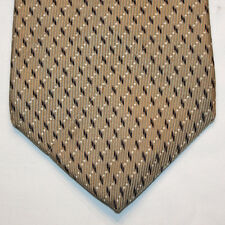 NEW Nautica Silk Neck Tie Beige with Dark Gray and White Pattern 727