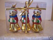 3 Singing Bears Ornaments Christmas Decorations