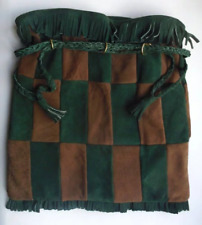 Sac à main fourre tout daim brun vert carreaux damier Handbag checkered motives