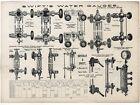 1890s SWIFTS STEAM ENGINE  GAUGE TACHOMETERS DONEGAN   SWIFT NY