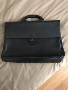 Trussardi Leather Briefcase Bag Black