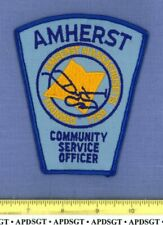 AMHERST CSO COMMUNITY SERVICE OFFICER (Old Vintage) MASSACHUSETTS Police Patch