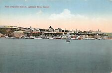 View of Quebec from St. Lawrence River Canada c1910 Postcard