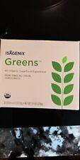 ISAGENIX Greens Oranic Super Food power 30sticks 0.3oz/9.5 oz New EXP 12/21