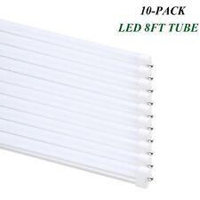T8 T12 8FT LED Tube Light 40w Single Pin FA8 Lamp 6000K Bright White Milky Cover