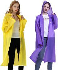 2 Pack Rain Ponchos for Adults Men and Women - Portable Reusable EVA Rain Coats